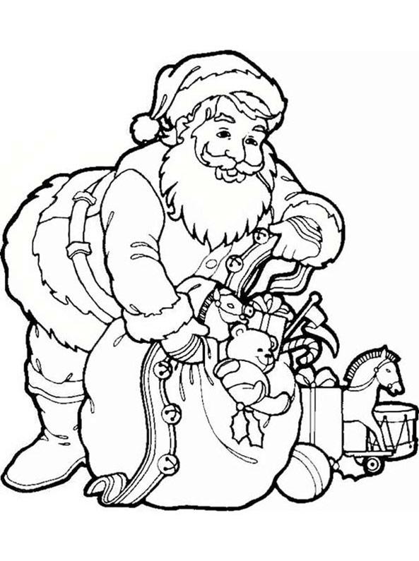 Weihnachtsmann zum ausmalen 2