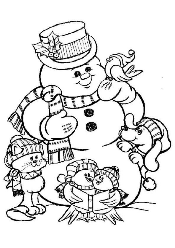 Weihnachten zum ausmalen 3