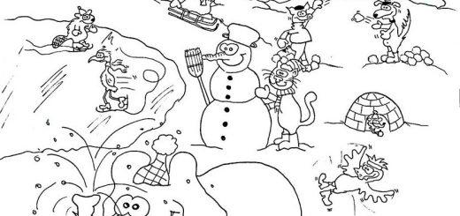 Bilder zum ausdrucken Winterlandschaft 2