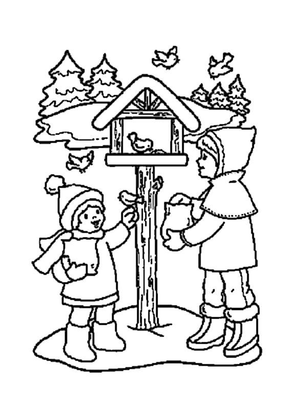 Ausmalbilder Winter 8