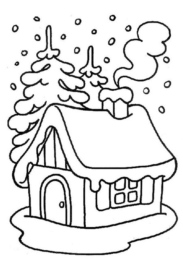 Winter zum ausmalen 9