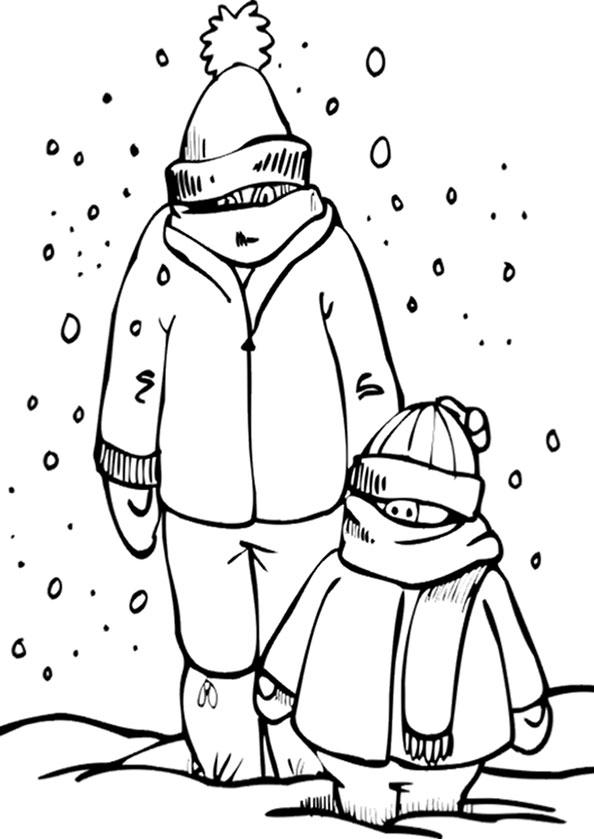 Winter zum ausmalen 10
