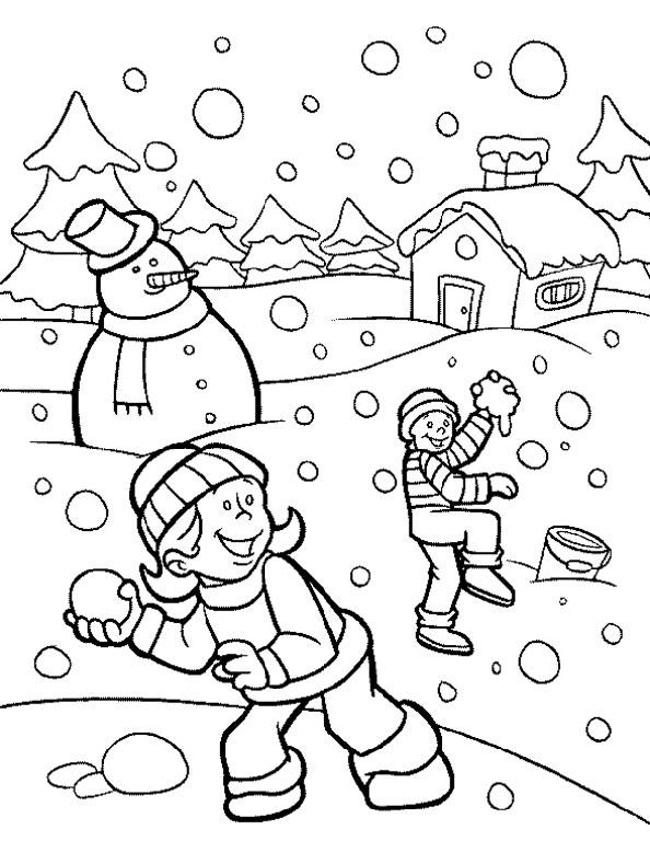 Winter zum ausmalen 12