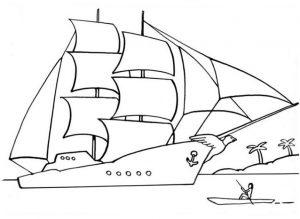 Segelschiff malvorlagen