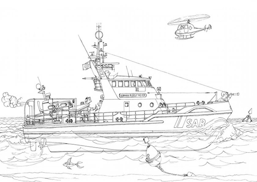 Ausmalbilder Kriegsschiffe 3
