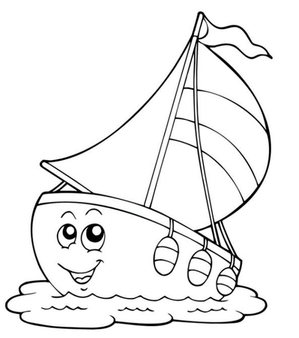 Bilder zum ausmalen Segelschiffe 4