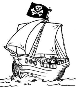 Piratenschiffe zum ausmalen 5