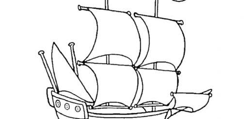 Ausmalen Segelschiffe 6