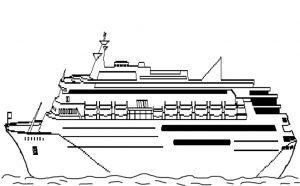 Ausmalbilder Kreuzfahrtschiffe 9