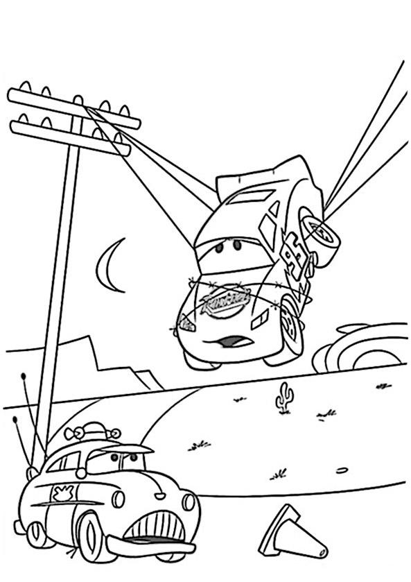 Cars zum ausmalen. Bild 16