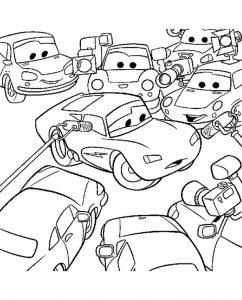 Cars zum ausmalen. Bild 1