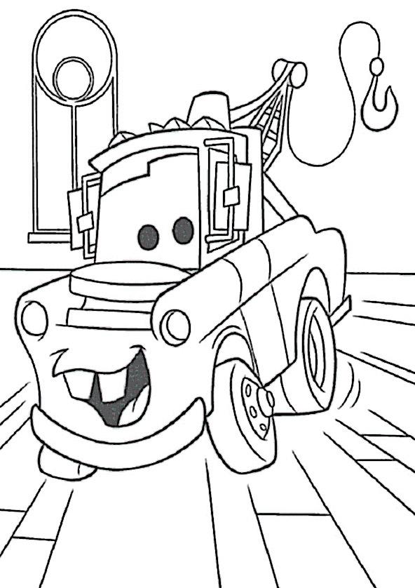Cars zum ausmalen. Bild 3