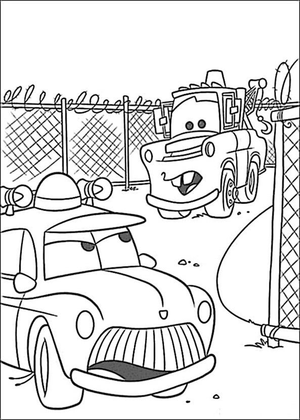 Cars zum ausmalen. Bild 9