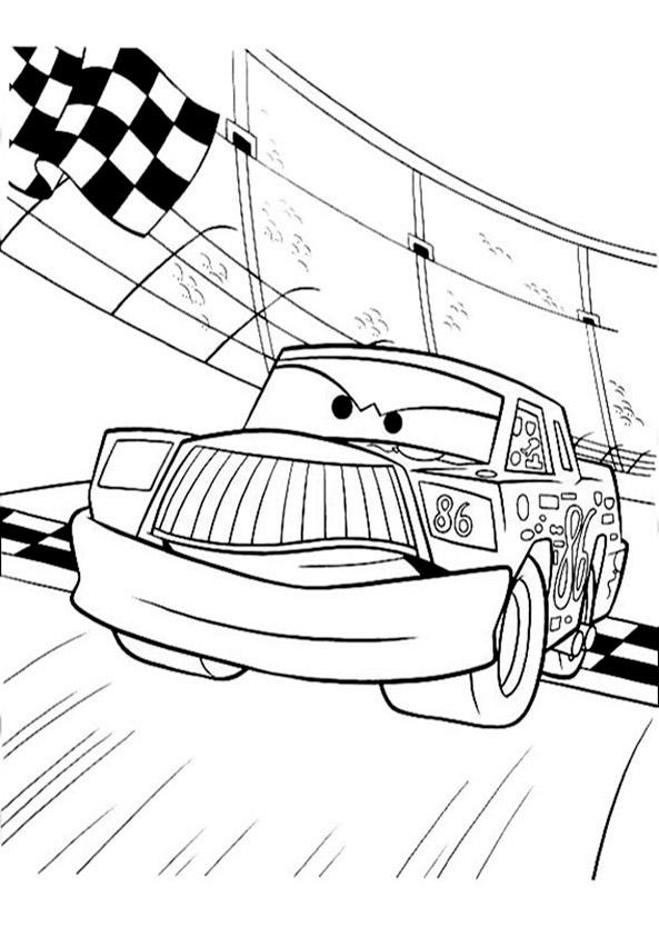 Cars zum ausmalen. Bild 10