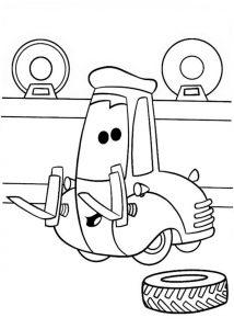 Cars zum ausmalen. Bild 11