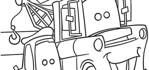 Cars zum ausmalen. Bild 12