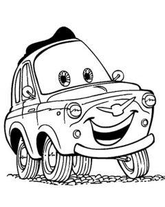 Cars zum ausmalen. Bild 14