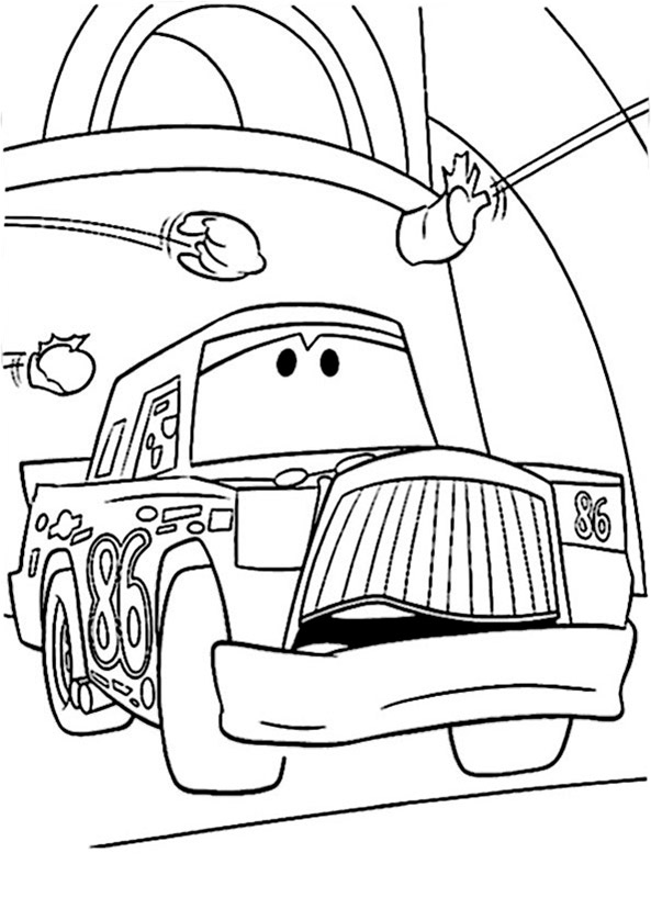 Cars zum ausmalen. Bild 15