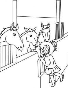 Pferde zum ausmalen. Bild 3