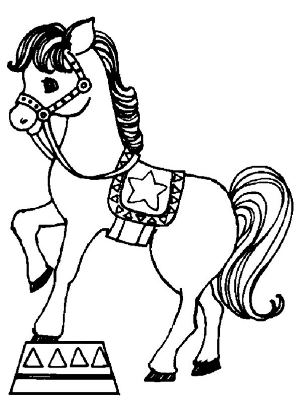 Pferde zum ausmalen. Bild 4