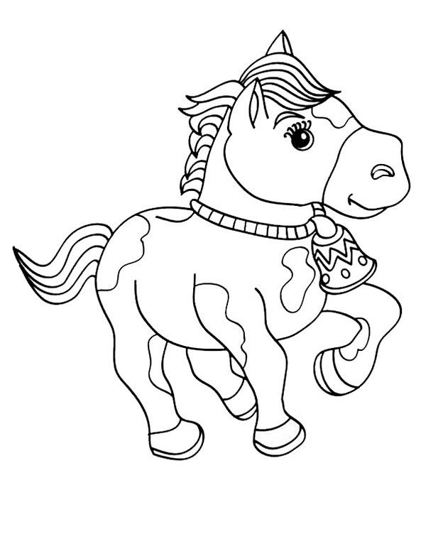 Pferde zum ausmalen. Bild 5