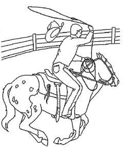 Ausmalbilder Pferde. Bild 6