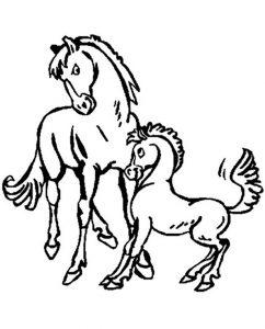 Pferde zum ausmalen. 7
