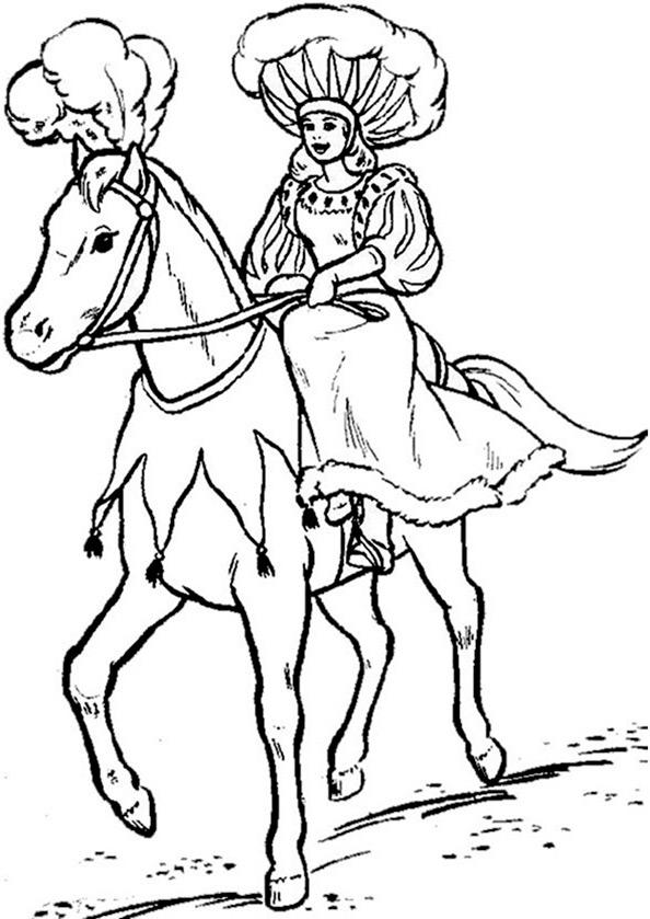 Pferde zum ausmalen 8