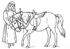 Pferde zum ausmalen 11