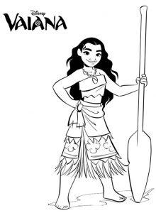 Vaiana zum ausmalen. Bild 5