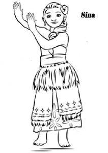 Vaiana zum ausmalen. Bild 6