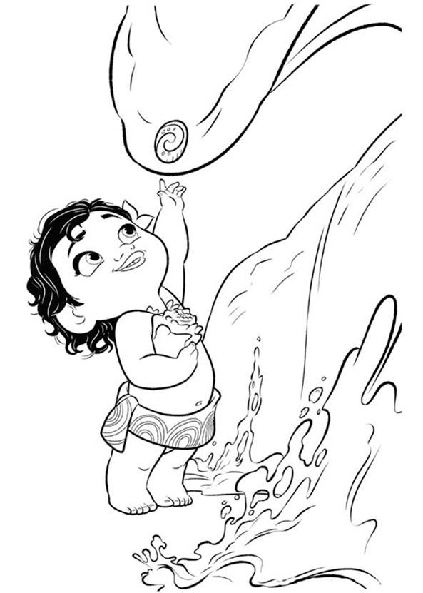 Vaiana zum ausmalen. Bild 8