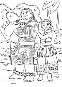 Vaiana zum ausmalen. Bild 9