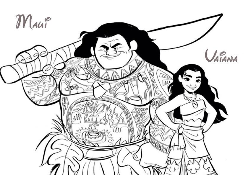 Vaiana zum ausmalen. Bild 11