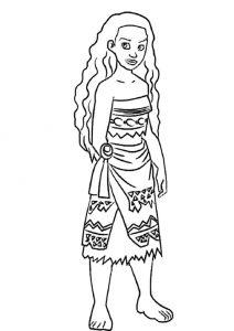Vaiana zum ausmalen. Bild 12