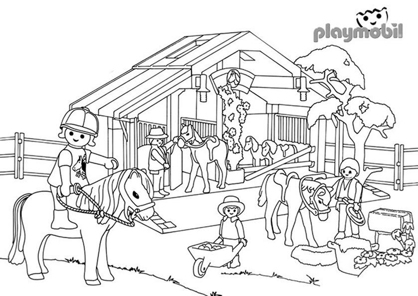 Playmobil zum ausmalen 1