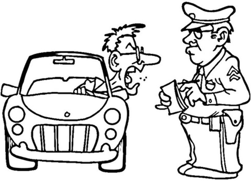 Polizei zum ausmalen 4