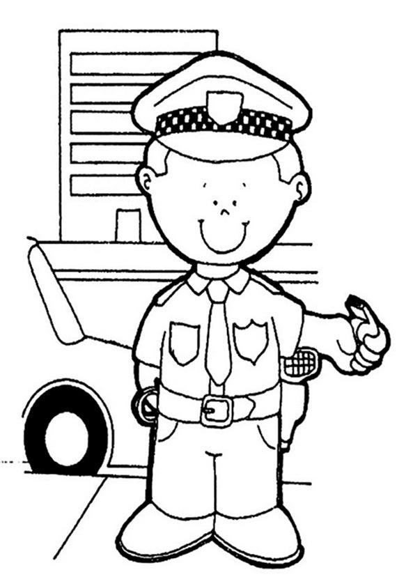 Polizei zum ausmalen 6