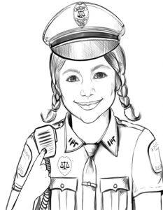 Polizei zum ausmalen 7