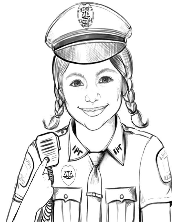 Polizei 7 Ausmalen