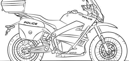 Polizeimotorrad zum ausmalen 8