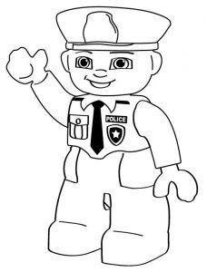 Polizei Lego zum ausmalen 9
