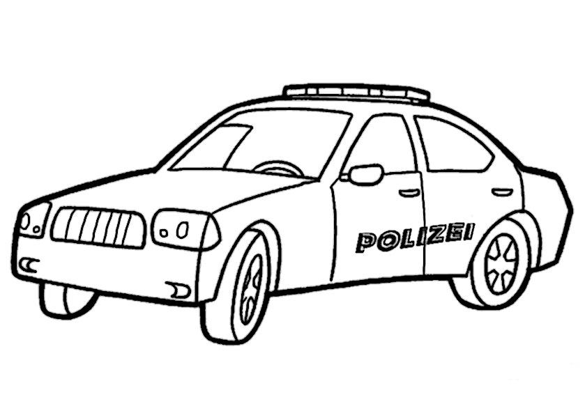 Polizeiauto zum ausmalen 10