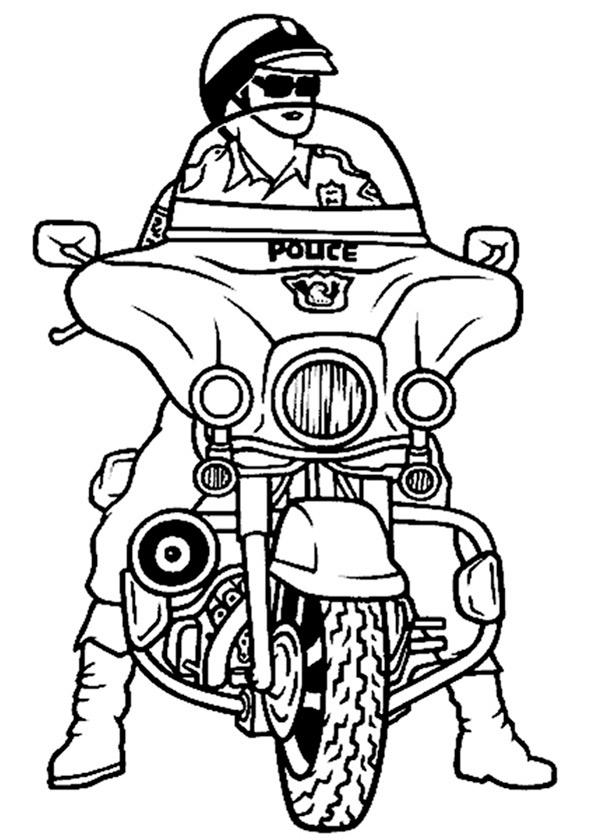 Polizeimotorrad zum ausmalen 11