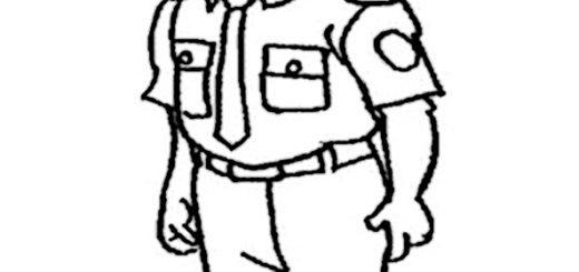 Polizei zum ausmalen 12