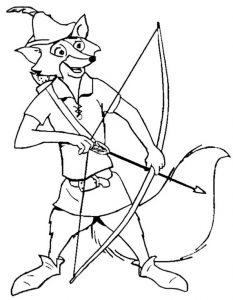 Robin Hood zum ausmalen 1