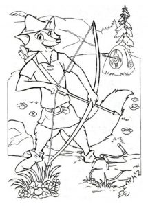 Robin Hood zum ausmalen 5