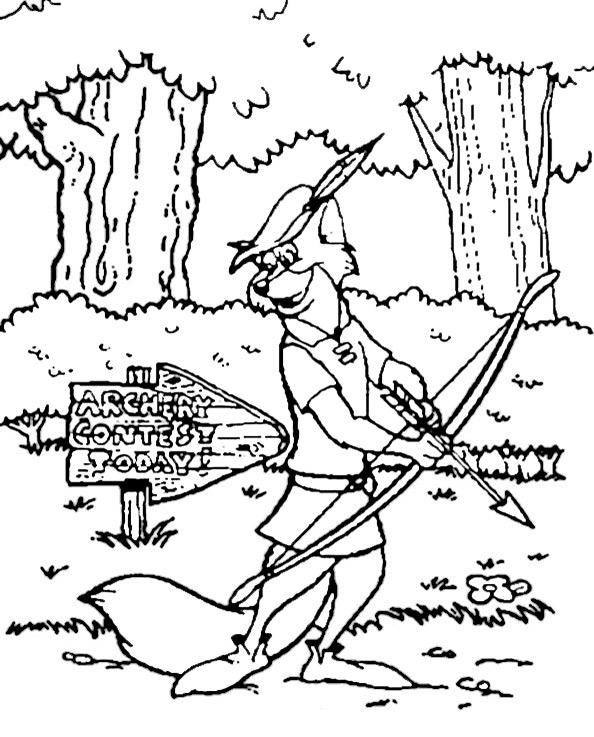 Robin Hood zum ausmalen 6