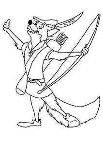 Robin Hood zum ausmalen 7