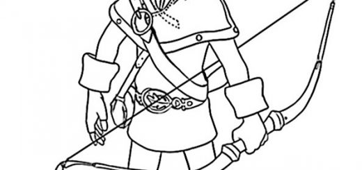 Robin Hood zum ausmalen 9